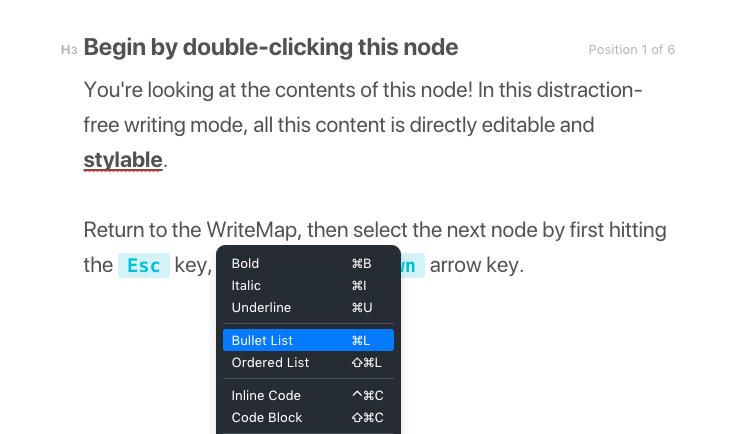 WriteMapper Distraction-free Editor